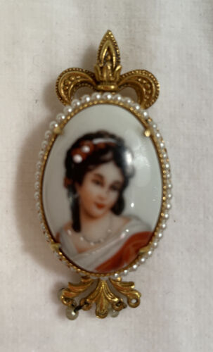 cameo gift for mom historic cameo costume jewelry FREE SHIPPING Baroque art gift for her Versailles French art pendant