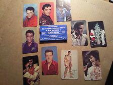 ELVIS PRESLEY RCA Calendar Cards - Complete set of 18 - 1963 -1980 - Promo items