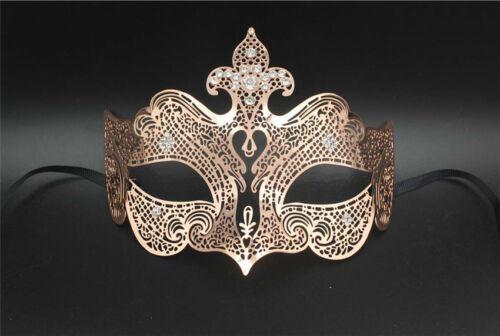 Vintage Laser Cut Metal Venetian Masquerade Carnival Mardi Gras Ball Party Mask