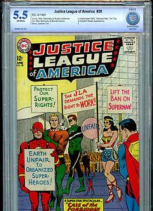 Justice League of America #28 DC Comics JLA Silver Age CBCS Graded 5.5 1964