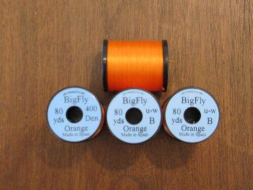 80yds. Fly tying Uni Big Mouche Thread-Orange