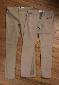 09f3e75509c07d 2 uniform Khaki pants girls Size 16 Youth Leggings And 7 Adult ...