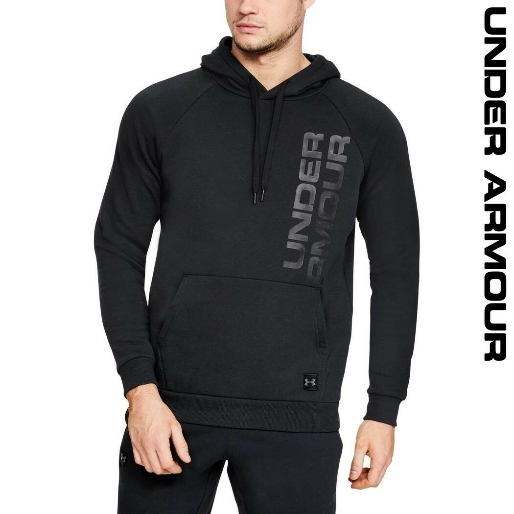 Under Armour UA Rival Fleece Script Men's Hoodie Lightweight Sports 1322028-001