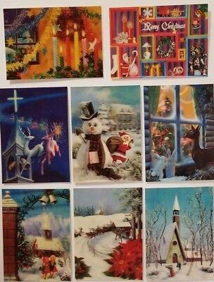 Vintage 3D Lenticular Unused Postcards