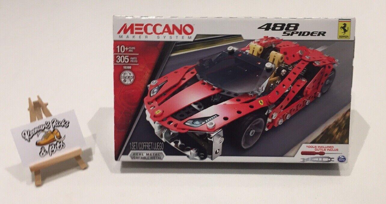 Meccano Maker System 16309 Ferrari 488 Spider BRAND NEW SPIN MASTER