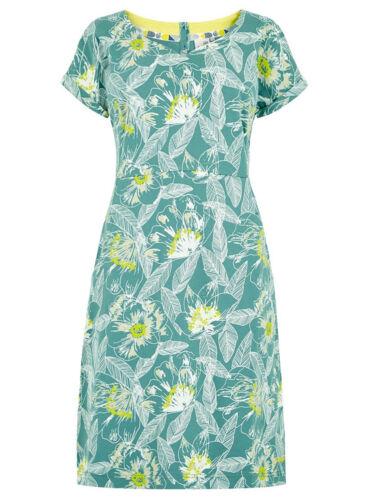 £35.00 New Weird Fish Printed Cotton Jersey Floral  Dress 10 12 16 18 20 22