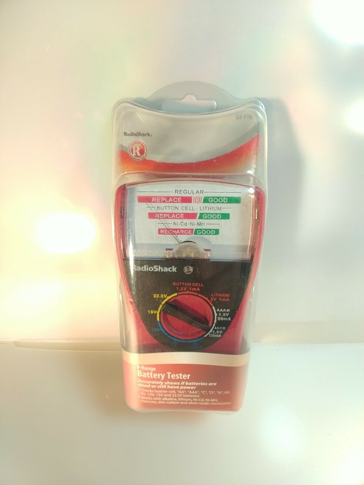 RadioShack 9 Range Battery Tester Radio Shack 22-110 Complete