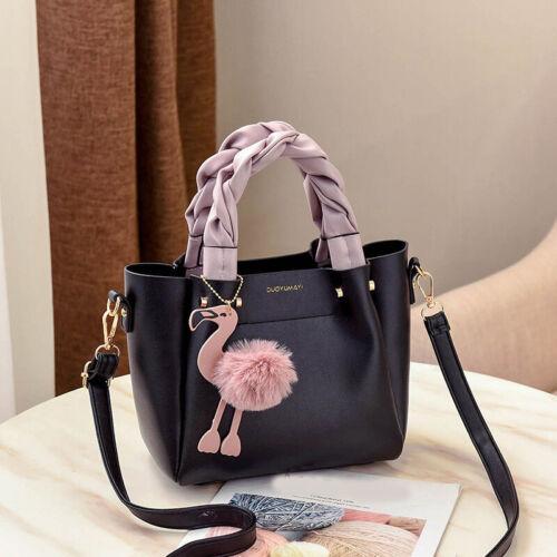 Women Flamingo Handbag Phone Pocket Flap Tassel Shoulder Crossbody Bag Messenger