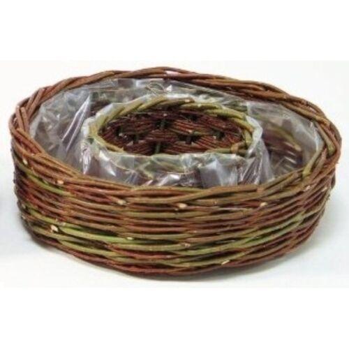 Pflanzring aus Rohweide 30cm Grabschale Weidenkranz Grabdeko Gartendeko Ring