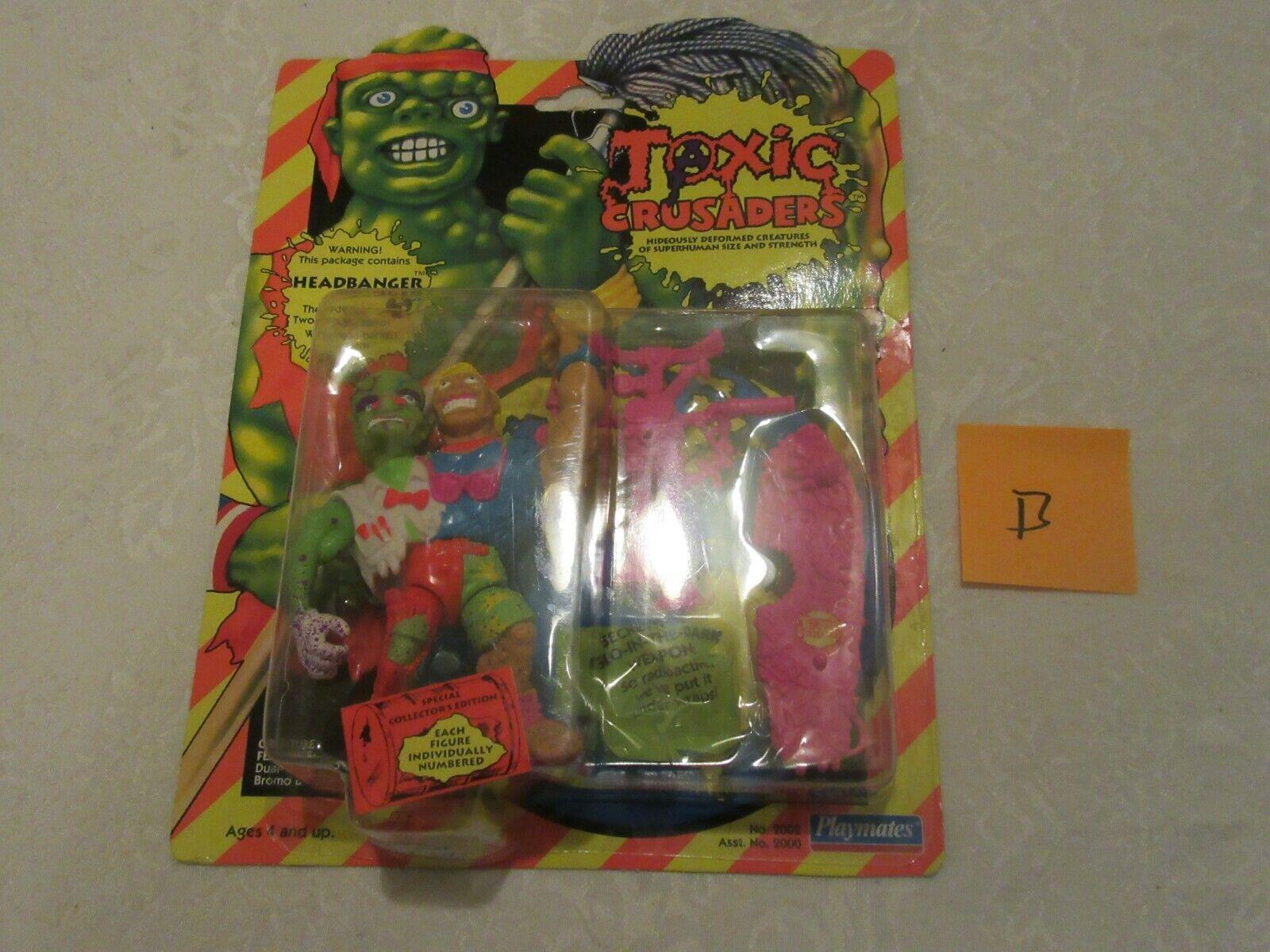 Playmates Toxic Crusaders Headbanger  2002 1991 specialeee Collector's edizione  B  spedizione e scambi gratuiti.