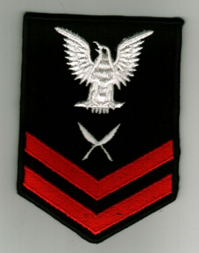 MALE BLUES FULLY EMBROIDERED:TN YN2 YEOMAN RATING BADGE