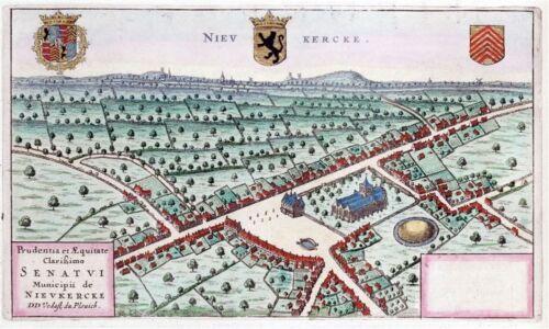 Reproduction plan ancien de Neuve-Eglise Nieuwkerke 1649