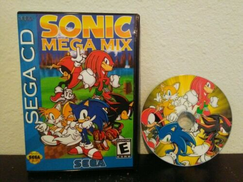 Sonic Megamix ROM hack reproduction video game for Sega CD, Mega Mix, Very fun!