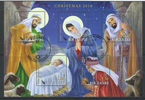 NEW ZEALAND 2016 CHRISTMAS MINIATURE SHEET FINE USED