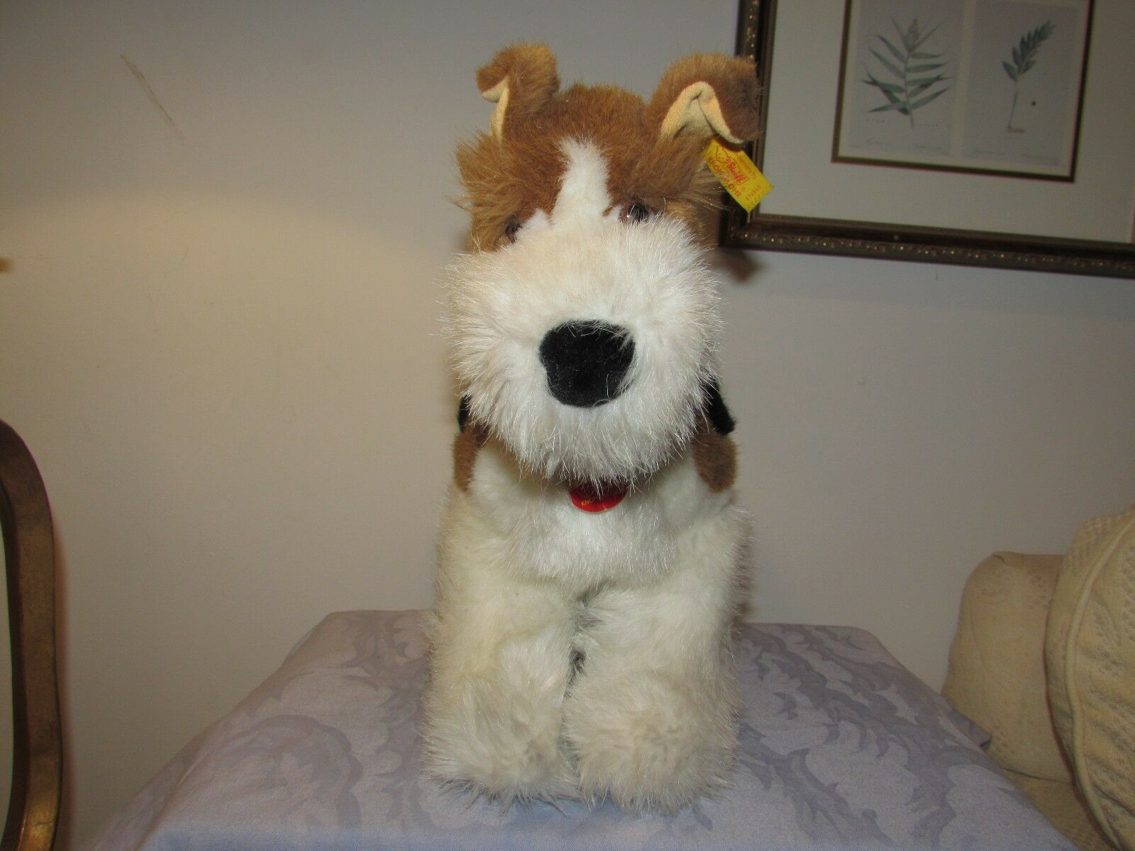 VINTAGE GERMANY STEIFF GERMANY VINTAGE BELLO FOX TERRIER DOG 43 CM 17 IN BUTTON TAGS 078545 270f30