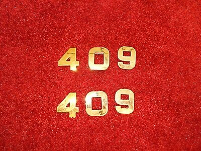 RED CHEVROLET 496 STROKER ENGINE ID FENDER HOOD SCOOP QUARTER EMBLEM