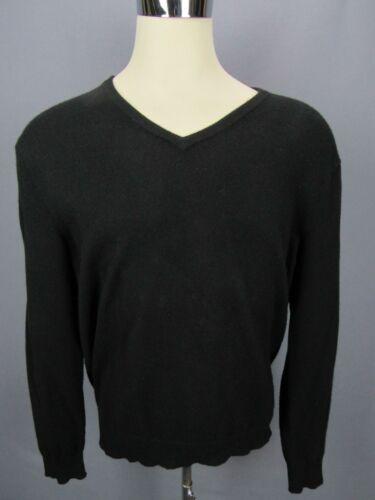 Polo Ralph Lauren Black Pure Cashmere V-Neck Mens