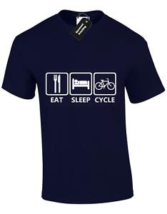 5XL EAT SLEEP CYCLE MENS T SHIRT BIKE CYCLING CYCLIST TOUR DE FRANCE TOP S