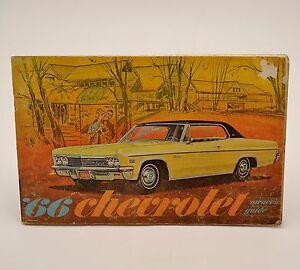 1966 chevrolet original owners manual impala caprice guide guc ebay rh ebay com 1966 Chevy Suburban Chevy El Camino