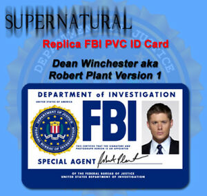Supernatural Sam Or Dean Winchester Replica FBI ID Card Or ...