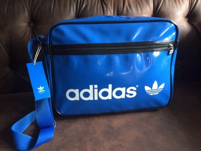 Neu Adidas Tasche blau weiß NEUWERTIG airliner Kostenloser