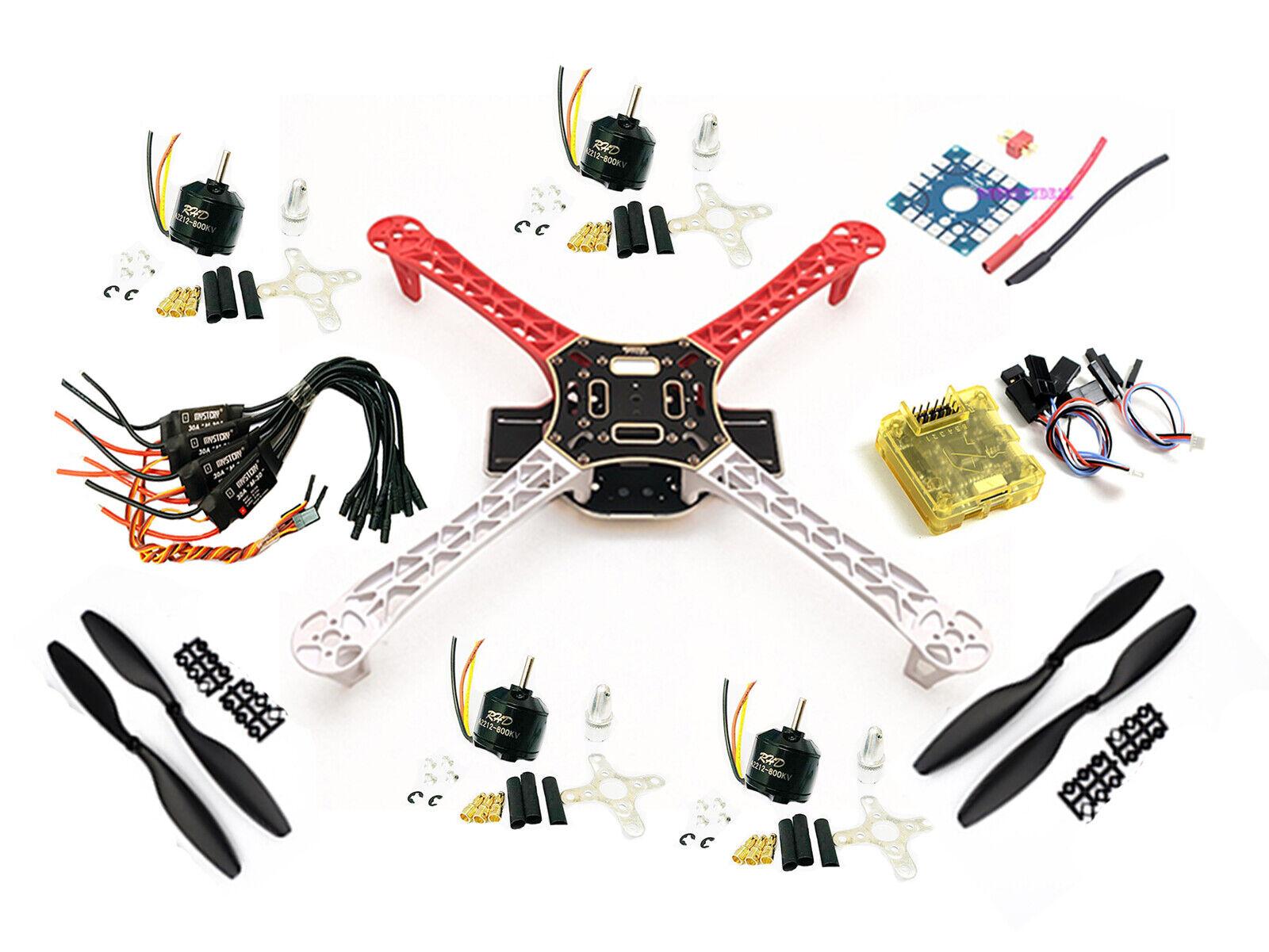 Cuadricóptero F450 kit de rack marco con CC3D Evo 2212 800 kV 30 A Simonk Esc 1045 Prop