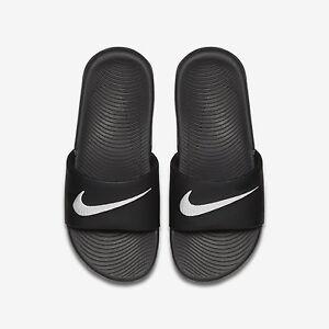 d5899183fb3bb0 Nike Kawa Slide (GS PS) 819352 001 Black White Free Shipping