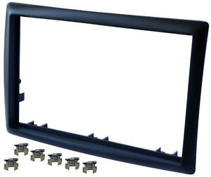 Adaptateur-Autoradio-Facade-Cadre-Reducteur-noir-pour-Renault-Megane-II-2002-09