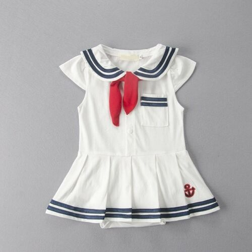 Baby Girl Sailor Nautical Carnival Fancy Party Costume Outfit Clothes Dress