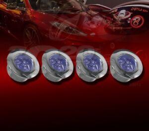 2 X BLUE LED BUMPER GRILLE LIGHTS FOR EDGE F150 F250 MUSTANG FOCUS FLEX