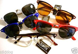 Clubmaster-Browline-Sunglasses-Malcolm-X-Aviator-Style-Assorted-Colors