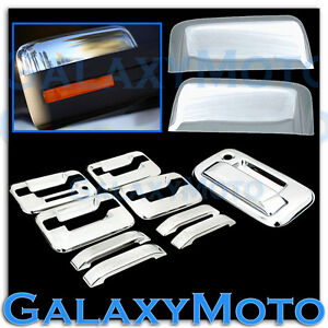 09-14-Ford-F150-Chrome-HALF-Mirror-4-Door-Handle-keypad-no-PSG-KH-Tailgate-Cover