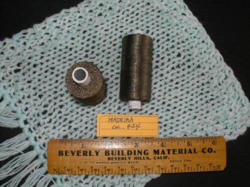 Germany 2 each Madeira FS 2//2 No20 20gm Metallized embroidery thread #484 VTG W