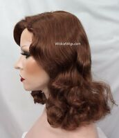 Fabulous 1940's Style Bette Davis Wig Color Choice Vamp Theatre Wig. Theater