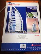 Burj Al Arab Dubai Hotel From Heaven 3D Puzzle PoP Out World Architecture
