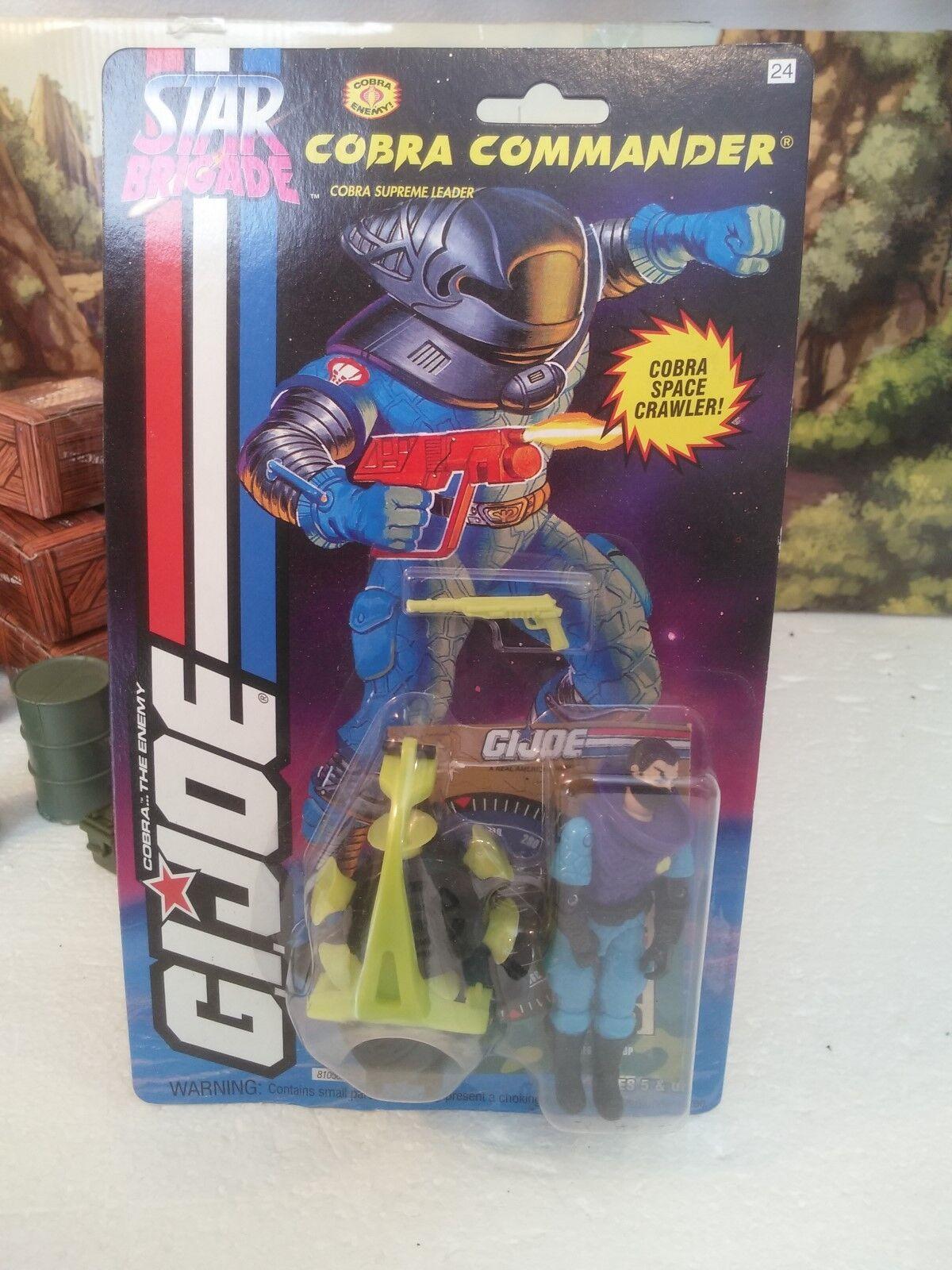 Star Brigade  1994 Cobra Leader Suprême  Cobra Commander (v36)  100% CMP Comme neuf on card