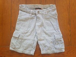 Ben-Sherman-Boy-039-s-Grey-Striped-Shorts-100-Cotton-Size-2-3-Years