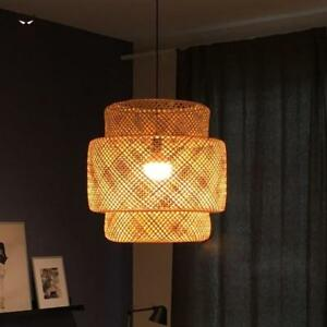 Details About Hand Bamboo Wicker Pendant Light Fixture Vintage Modern Rattan Ceiling Lamp Room
