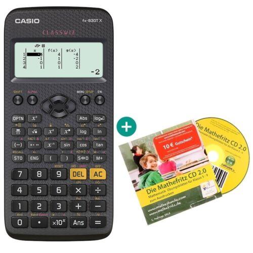Casio FX 83 GT X Schwarz Lern-CD auf Deutsch