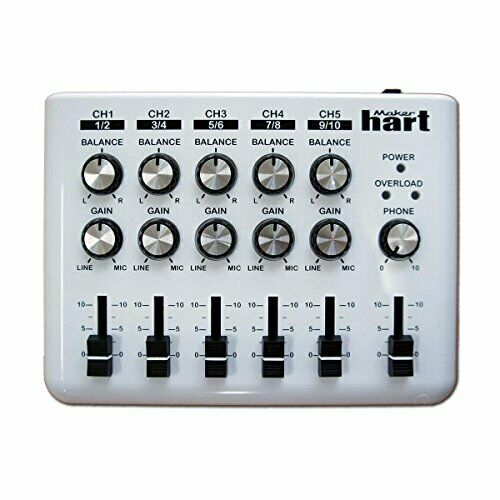 Maker Hart Loop Mixer 5 Channel Stereo Audio Simple Weiß