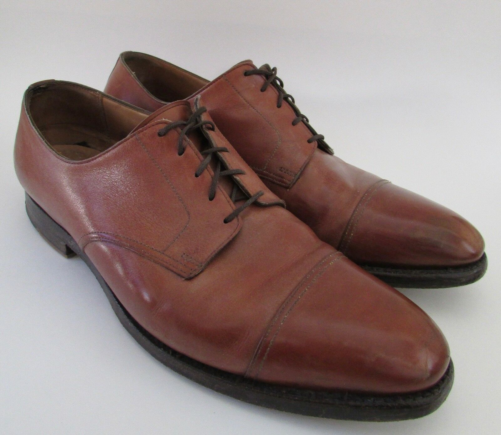 Peal Co. Brooks Bredhers Chestnut Oxford Dress shoes Made in England Size 13D
