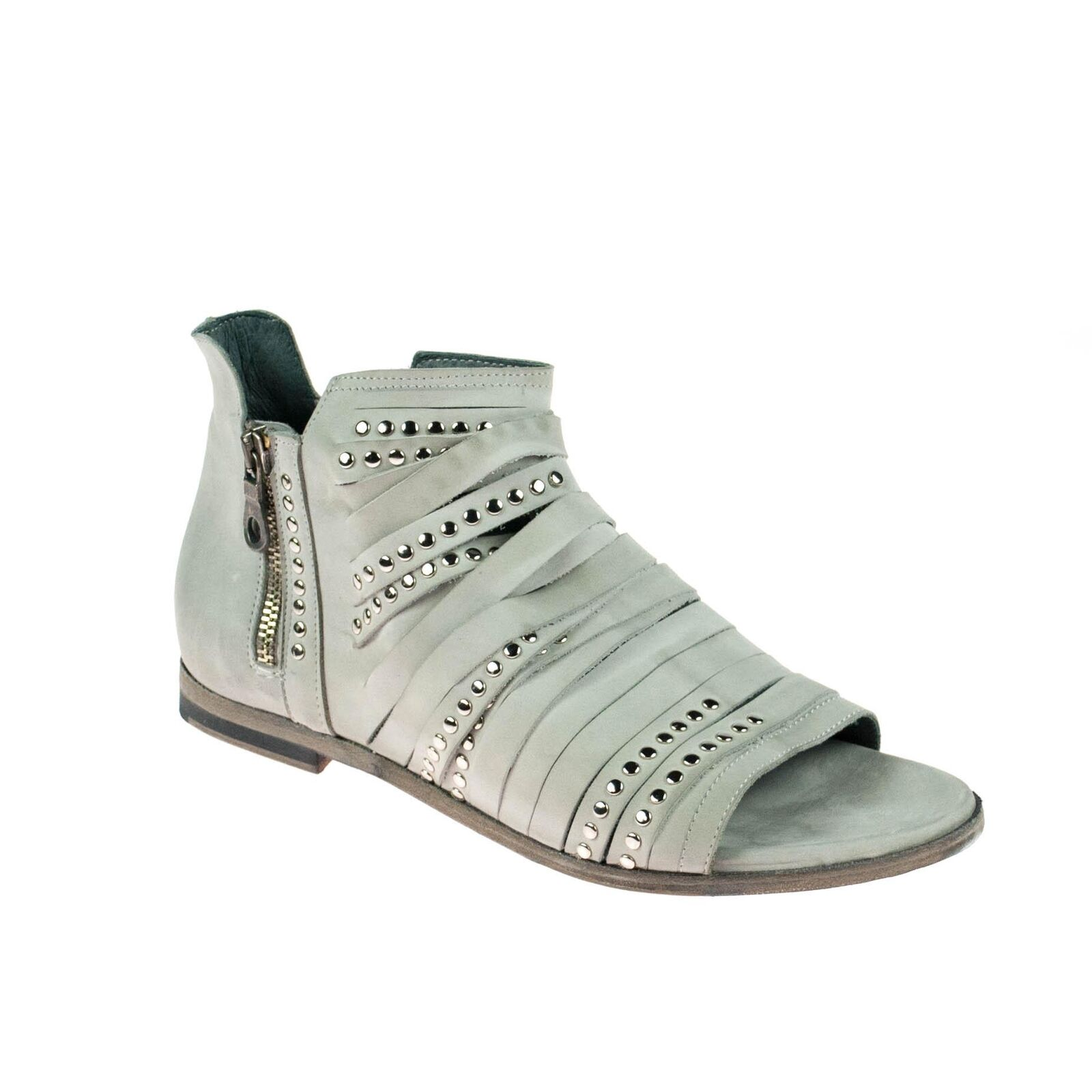 Juice Damen Sandale Leder Beige Grau