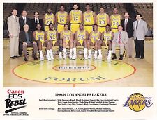 1990-91 Los Angeles Lakers Canon NBA Basketball 8 1/2 X 11 Team Photo