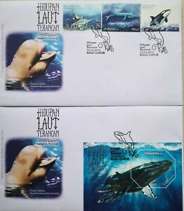Malaysia FDC with Miniature Sheet & Stamps (13.04.2015) - Endangered Marine Life