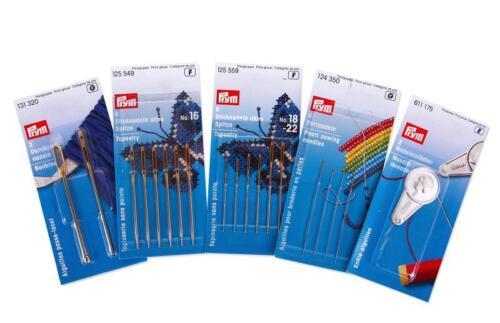 mediante agujas de arrastre.. perlnadeln Prym nadelset nº 2-5 pzas #9118 con Stick aguja