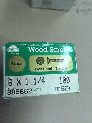 Hillman Wood Screws No 8 X 2  Phillips Flat Head Box 100