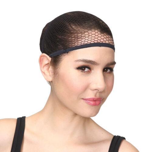Perruque cap homme femme maille titulaire de cheveux pour perruques accessoire robe fantaisie noir