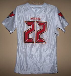 Girls  22 DOUG MARTIN Tampa Bay BUCCANEERS White Football Jersey M L ... 0d991568f