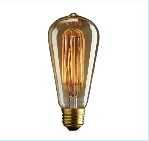 Edison Vintage Antique ST64 220V/40W E27 Light Ceiling Lamp Bulb Droplight