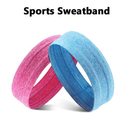 Yoga Fitness Running Riding Antislip Headband Moisture-Wicking Sport Sweatband l